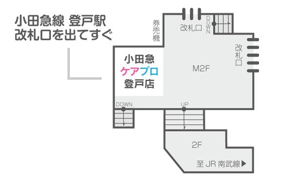 ケアプロ 登戸店舗案内図